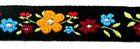 1m Blumen-Borte Webband 12mm breit Farbe: Bunt