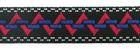 1m Mittelalter-Borte Webband 12mm breit Farbe: Rot-Blau