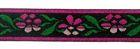 1m Blumen-Borte Webband 12mm breit Farbe: Fuchsia