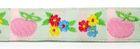 1m Blumen-Borte Webband 12mm breit