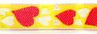 1m Herzen-Borte Webband 12mm breit Farbe: Rot-Gelb