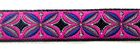 22m Indianer Retro-Borte Webband 12mm breit Farbe: Pink-Blau