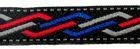 22m Indianer Retro-Borte Webband 12mm breit Farbe: Rot-Blau