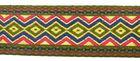 25m Borte Webband 33mm breit Farbe: Ocker-Rot-Blau-Gold