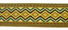25m Borte Webband 33mm breit Farbe: Ocker-Türkis-Braun-Gold
