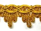 16,40m Gold-Borte 23mm breit Farbe: Lurex-Gold