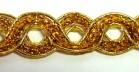 16,40m Gold-Borte 10mm breit Farbe: Lurex-Gold