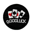 Applikation Biker Patch Good Luck Durchmesser 6,5cm