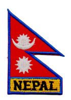1 Aufnäher Sticker Patch Flagge Nepal 3,7 x 5,8 cm
