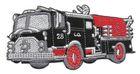 Applikation Sticker Patch Feuerwehr 11,5 x 6cm Farbe: Schwarz