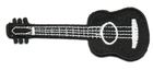 Applikation Patch Gitarre 9,5 x 4,5cm Farbe: Schwarz
