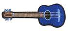 Applikation Patch Gitarre 9,5 x 4,5cm Farbe: Blau