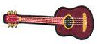 Applikation Patch Gitarre 9,5 x 4,5cm Farbe: Bordeaux
