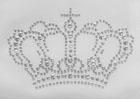 Bügelbild Bügelmotiv Krone 10,8 x 7,2cm Farbe: Silber