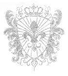 Bügelbild Applikation Wappen 19,5 x 21,5cm