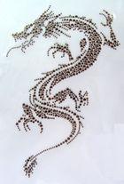 Applikation Bügelmotiv Studs  Drachen 16 x 24cm