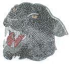 Applikation Bügelmotiv Strass Panther 25 x 22,5 cm