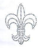 Applikation Bügelmotiv Strass Königslilie 8,5x11,2cm Farbe: Crystal
