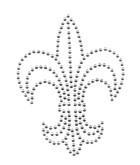Applikation Bügelmotiv Studs Königslilie 8,5x11,2cm Farbe: Silber