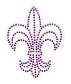 Applikation Bügelmotiv Studs Königslilie 8,5x11,2cm Farbe: lila