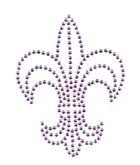 Applikation Bügelmotiv Studs Königslilie 8,5x11,2cm Farbe: Light Purple