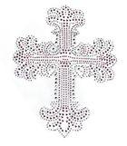 Bügelbild Applikation Kreuz 16 x 20,5 cm
