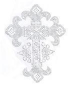 Bügelbild Strass Applikation Kreuz 21,5 x 28 cm