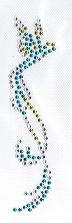 Bügelbild Applikation Kolibri 4 x 16 cm