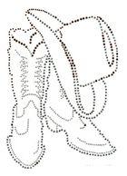 Bügelbild Line Dance Stiefel mit Hut 14,5 x 21cm Farbe: Braun