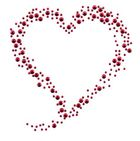Bügelbild Applikation Herz 10,5 x 11cm Farbe: Rot