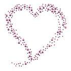 Bügelbild Applikation Herz 10,5 x 11cm Farbe: Pink
