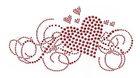 Bügelbild Applikation Herz 19,5 x 10cm Farbe: Rot