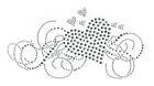 Bügelbild Applikation Herz 19,5 x 10cm Farbe: Silber