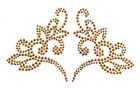 Bügelbild Herz 19 x 11cm Farbe: Gold
