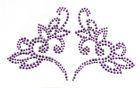 Bügelbild Herz 19 x 11cm Farbe: Light Purple