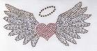 Bügelbild Applikation Herz mit Flügel Strass 17 x 8,5cm