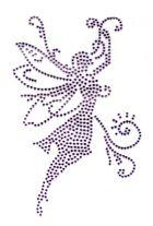 Bügelmotiv Applikation Studs Elfe 9 x 14,5cm Farbe: light Purple