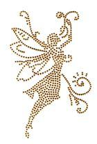 Bügelmotiv Applikation Studs Elfe 9 x 14,5cm Farbe: light Gold