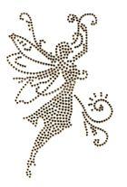 Bügelmotiv Applikation Studs Elfe 9 x 14,5cm Farbe: classic Beige