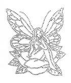 Bügelmotiv Applikation Strass Elfe 10 x 12cm Farbe: Crystal