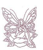 Bügelmotiv Applikation Strass Elfe 10 x 12cm Farbe: light Pink
