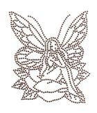 Bügelmotiv Applikation Strass Elfe 10 x 12cm Farbe: light Brown
