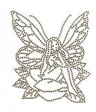 Bügelmotiv Applikation Strass Elfe 10 x 12cm Farbe: classic Beige