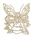 Bügelmotiv Applikation Strass Elfe 10 x 12cm Farbe: light Gold