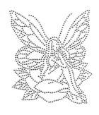 Bügelmotiv Applikation Strass Elfe 10 x 12cm Farbe: Silber