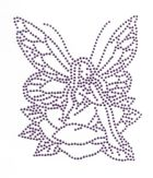 Bügelmotiv Applikation Strass Elfe 10 x 12cm Farbe: light Purple