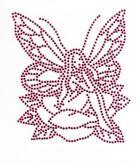 Bügelmotiv Applikation Strass Elfe 10 x 12cm Farbe: dark Pink