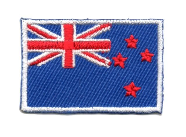 1 Aufnäher Sticker Patch Flagge Neuseeland 4, x 3 cm