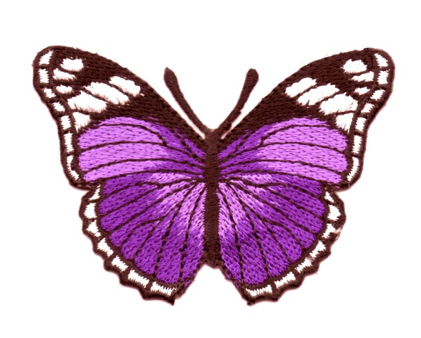 Applikation Patch Schmetterling 7,3x5,5cm Farbe: Lila
