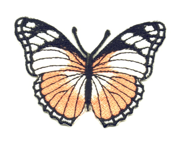 Applikation Patch Schmetterling 7,3 x 5,5cm Farbe: Lachs